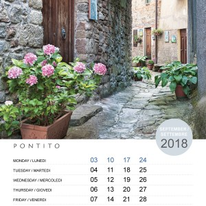Promotional Calendar Branded for Companies. Page September