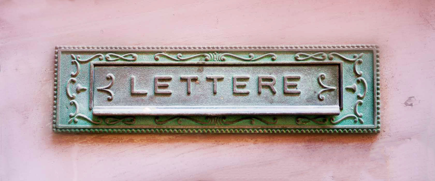 Letter box, Tuscany