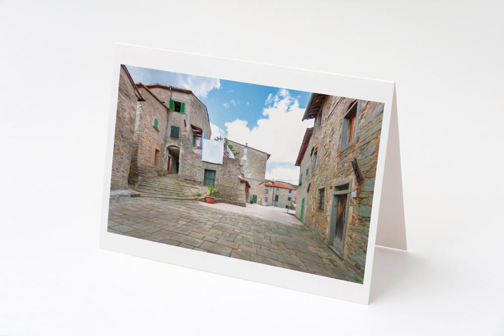 Village Piazza, Stiappa Greeting Card