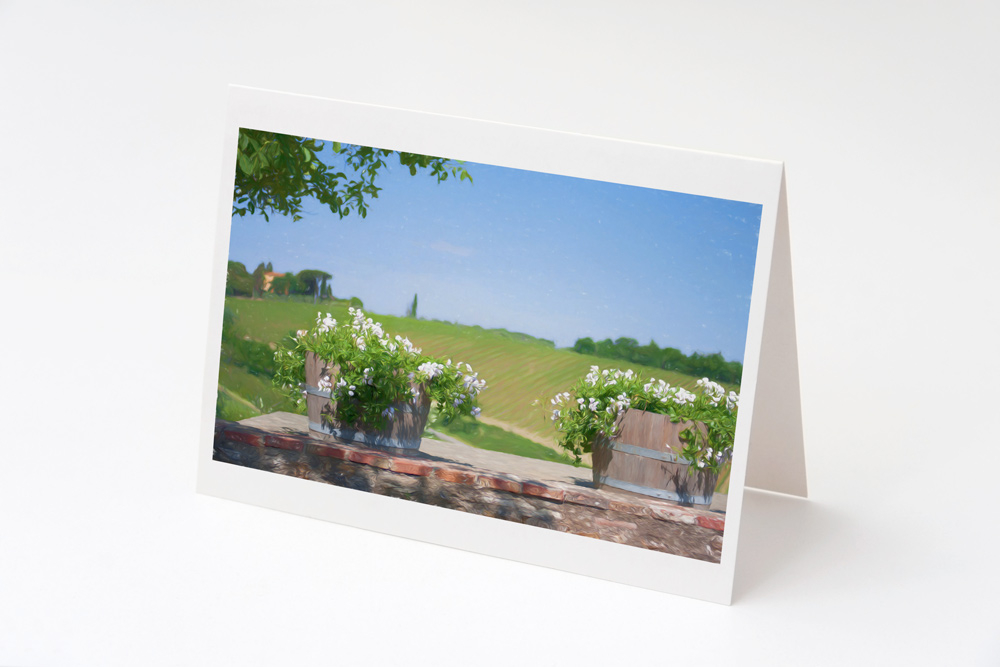 Pots and Flowers, Sienna Greeting Card