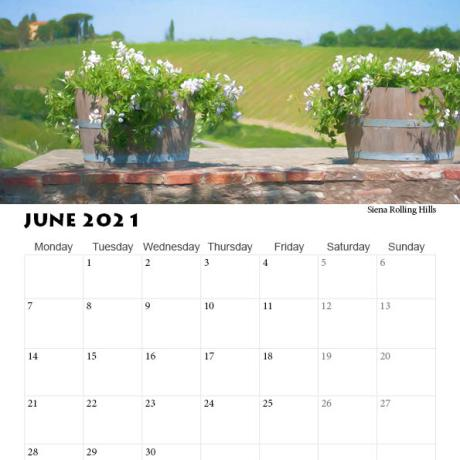 2021 Calendar Tuscany, Italy