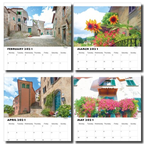 Tuscany Villages Calendar pages