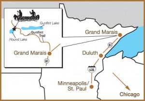 Tuscarora MN map