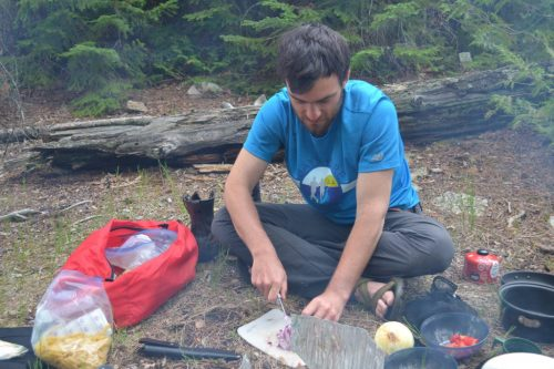 Quetico Campsite Cooking