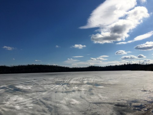 Round Lake Tuscarora Lodge Spring Ice 2016