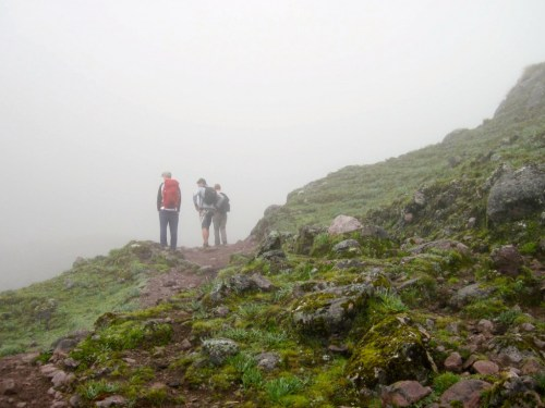 Lares Trek trail, second day hiking to Sicllaccasa Pass.