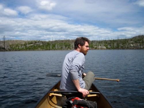 Quinn Paddling to Bingshick Lake