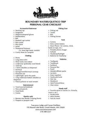 Printablepackinglist