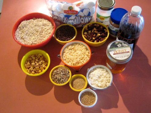 Chewy Granola Bar Ingredients Homemade Recipe