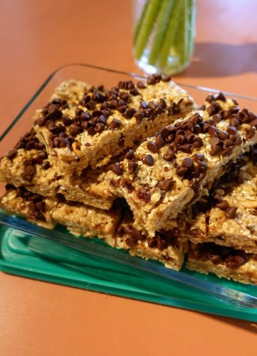 Chocolate Chip Fruit and Nut Granola Bar Recipe
