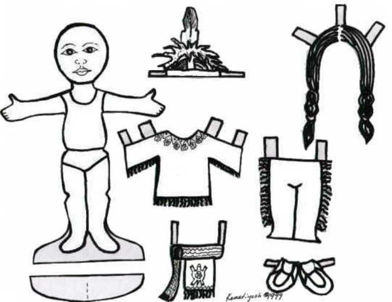 Kids Page Iroquois Indian paper dolls