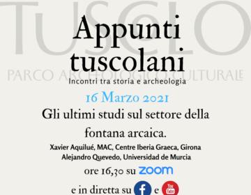 """16 marzo 2021 – nuovo appuntamento con """"Appunti tuscolani"""
