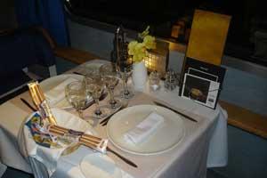 Vagón restaurante de Elipsos Trenhotel