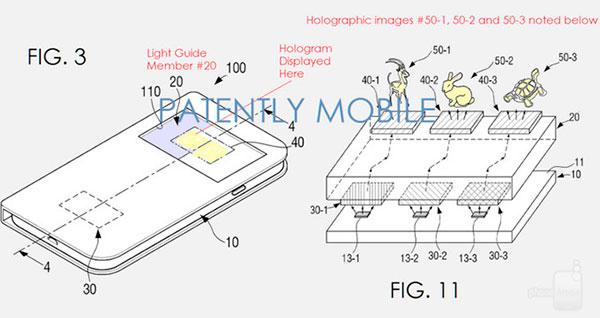 samsung patente hologramas