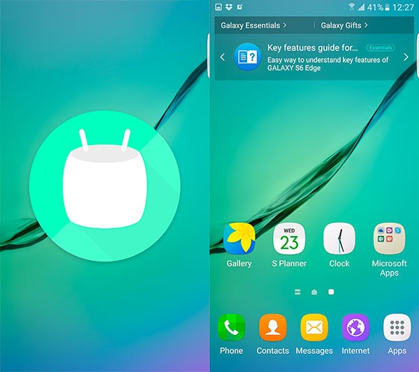 Android 6.0 beta-RC Samsung