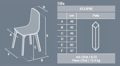 silla cocina eclipse cancio blanca patas de madera
