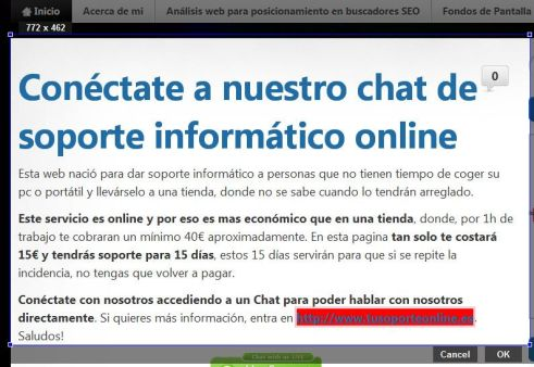 hacer un screenshot con google chrome