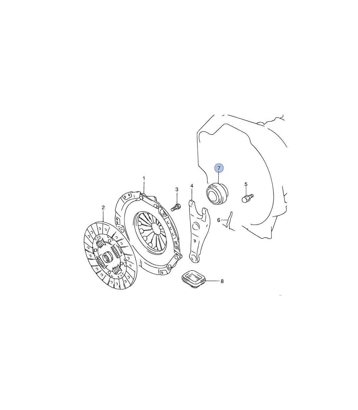 Rodamiento (FCR50-41-2) de embrague TAIWAN