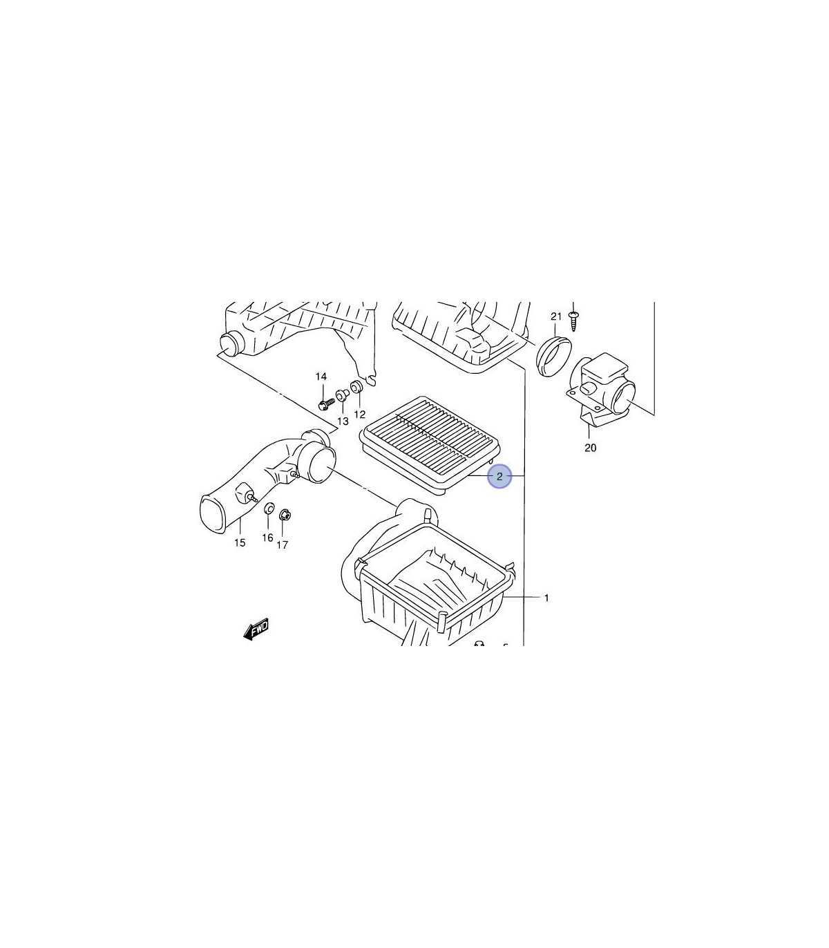 Filtro de aire (C-2337) TAIWAN