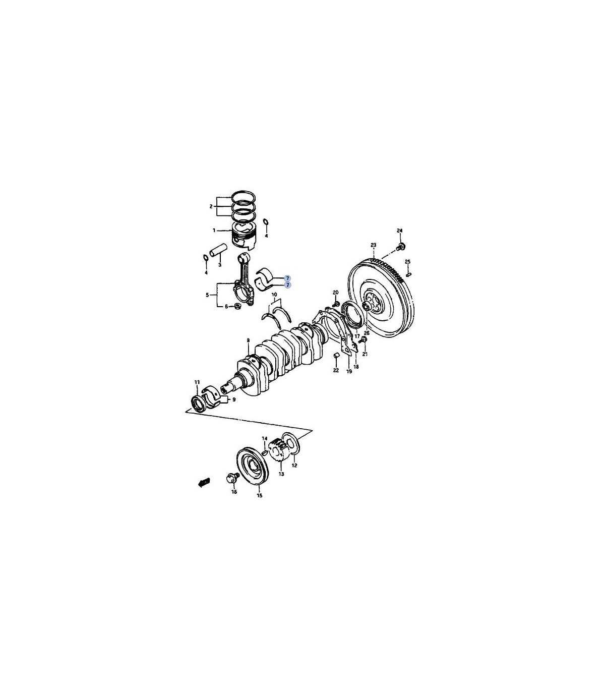 Metal biela 025 Juego CB-2405A JAPON