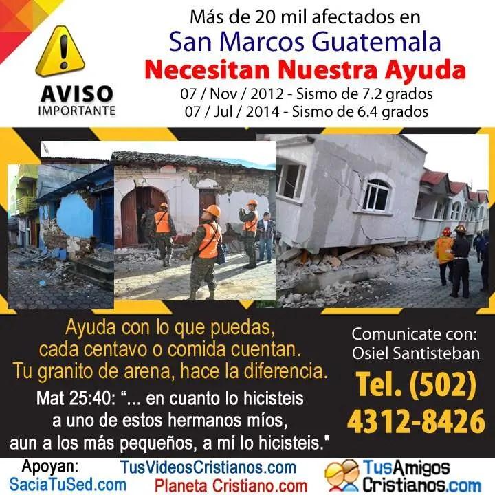 En este momento estás viendo Ayuda Guatemala, sismo afecta más de 20 mil personas