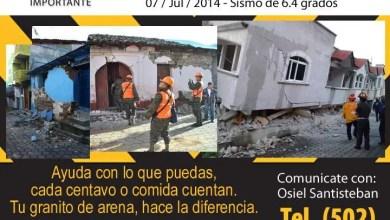 Photo of Ayuda Guatemala, sismo afecta más de 20 mil personas