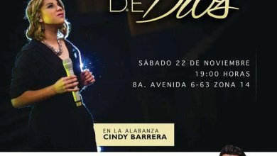 Photo of La Gracia de Dios – Cindy Barrera, Noche de Alabanza