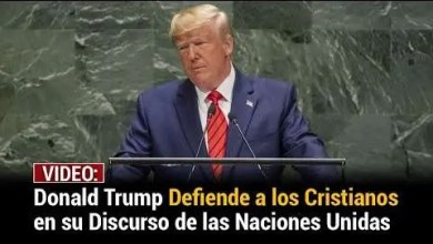 Photo of Donald Trump defiende a los cristianos con impactante discurso en la ONU