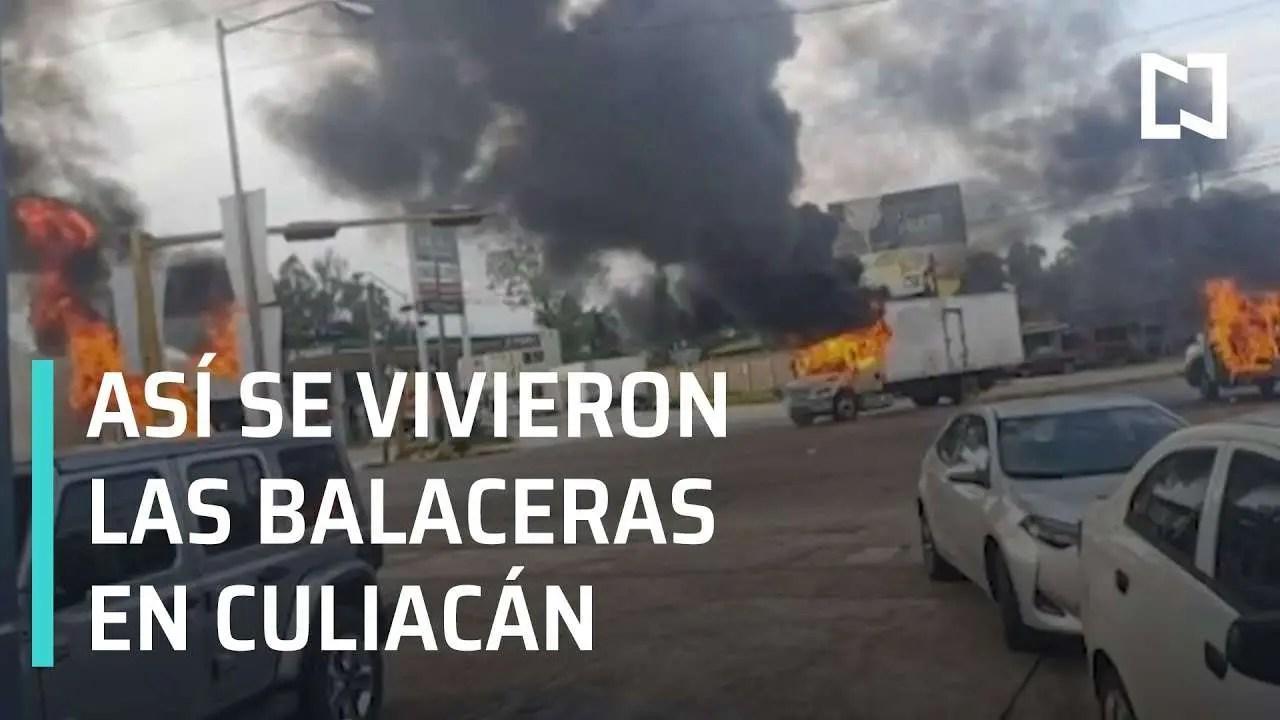 Culiacan Sinaloa México, así se vivieron las balaceras