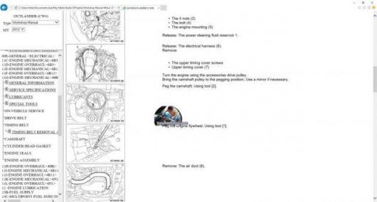 MITSUBISHI OUTLANDER GT 2010-2012 MANUAL DE TALLER