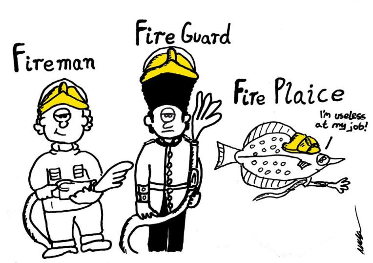 Tut and Groan Guest Toon Fireman by Mark Granger cartoon