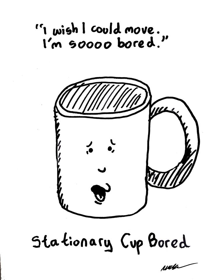 Tut and Groan Guest Toon Stationary-Cup-Bored by Mark Granger cartoon