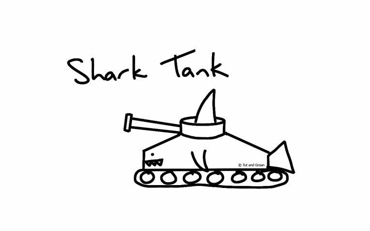 Tut and Groan Shark Tank cartoon