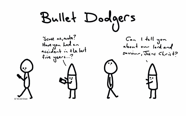 Tut and Groan Bullet Dodgers cartoon