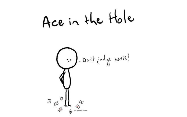 Tut and Groan Ace in the Hole cartoon