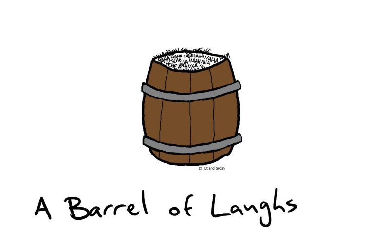 Tut and Groan A Barrel of Laughs cartoon