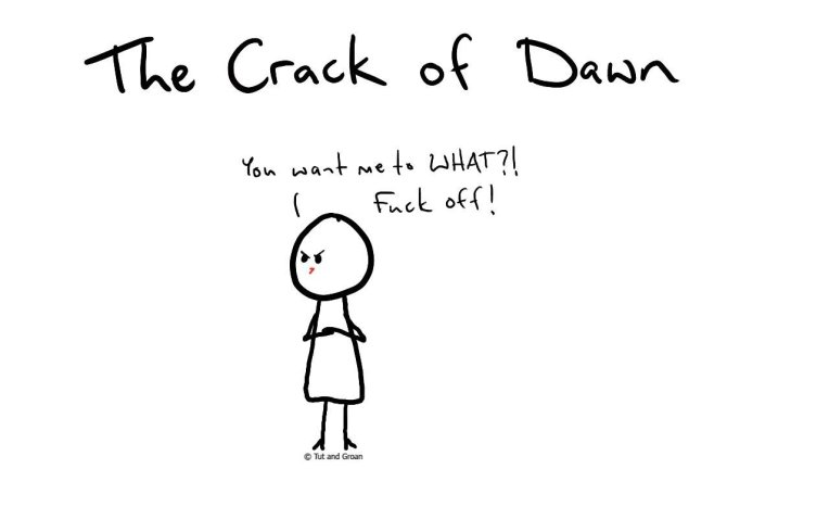 Tut and Groan The Crack of Dawn cartoon
