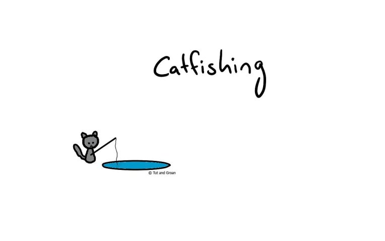 Tut and Groan Catfishing cartoon