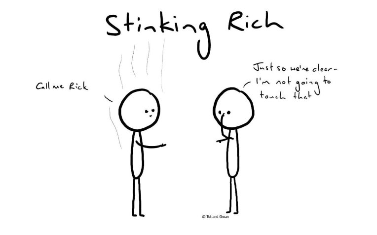 Tut and Groan Stinking Rich cartoon