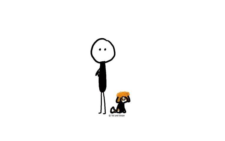 Tut and Groan Iconic Duos: Simon and Garfunkel cartoon