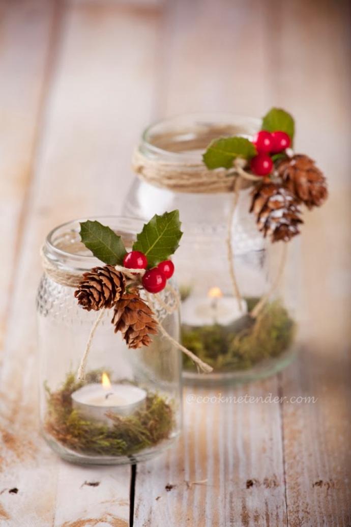 8 Ideas DIY para decorar la mesa en Navidad