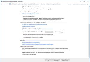 Java Access Bridge in den Windows Einstellungen