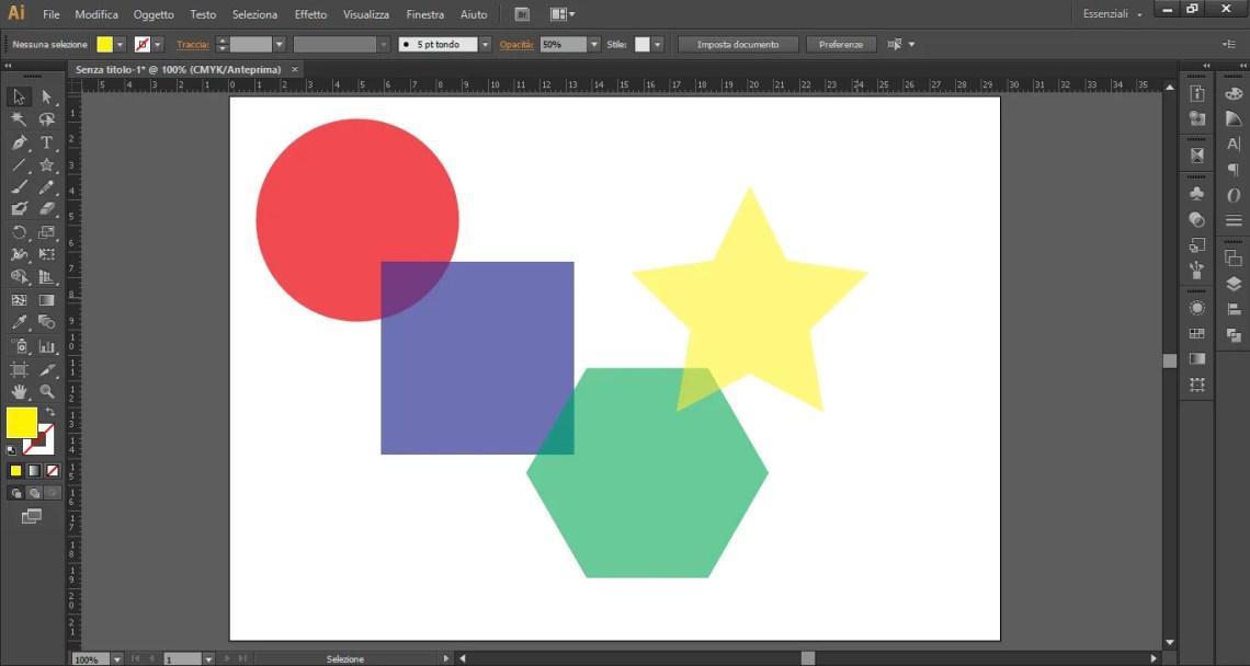 Creare una stella con Illustrator