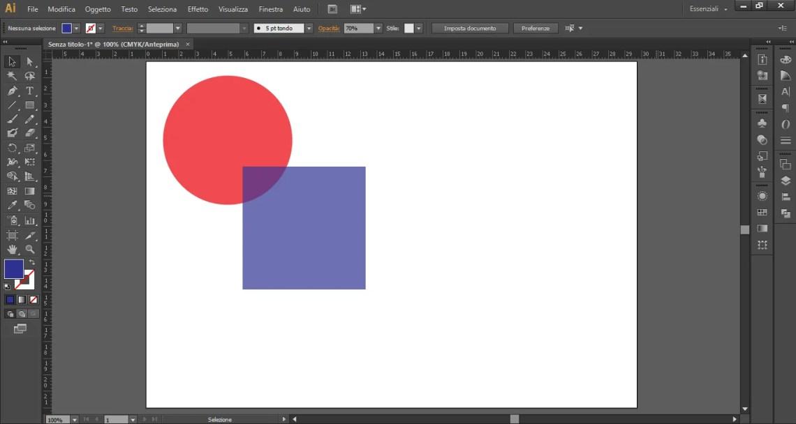 Quadrato perfetto con Illustrator