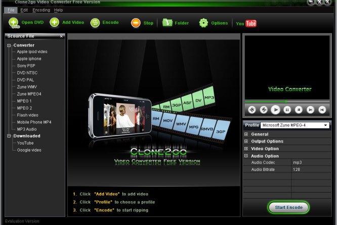 Conversione filmati CLONE2GOVIDEO