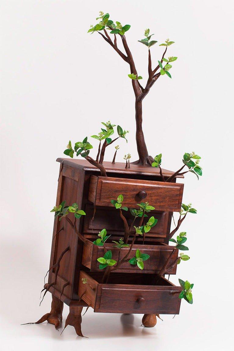 Sculture di alberi divertenti di Camille Kachani 9