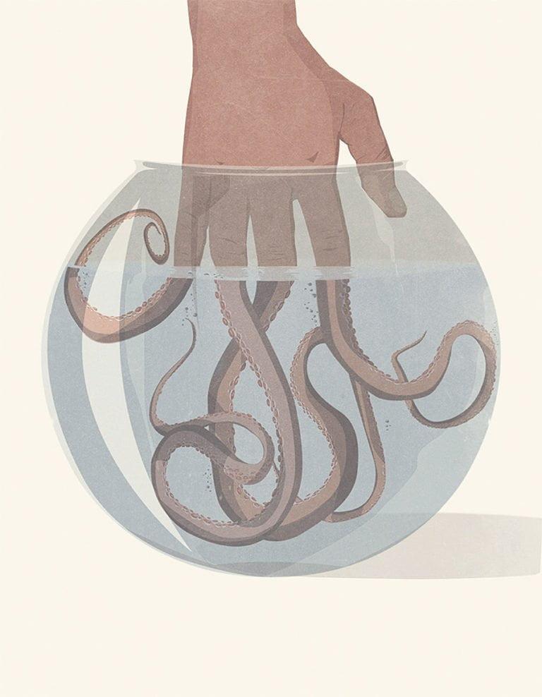 Illustrazioni minimaliste dell'artista Andrea Ucini 10