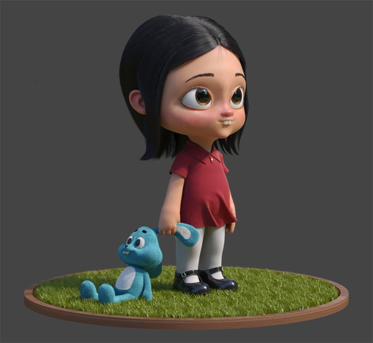 Personaggi 3d illustrati di Guzz Soares 4