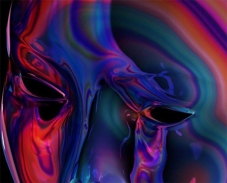Artworks psichedelici dell'artista Quentin Deronzier 1