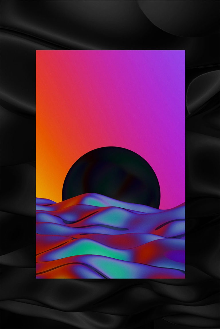 Artworks psichedelici dell'artista Quentin Deronzier 5